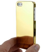 Ultra Slim Logo Hard Case Cover Gold Chrome for Apple iPhone 5 5S Att, Sprint & Verizon