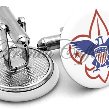 Boy Scouts Logo Color Cufflinks