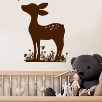 Vinyl Wall Decal Fawn Deer Animal Nursery Baby Room Stickers Unique Gift (ig3696)