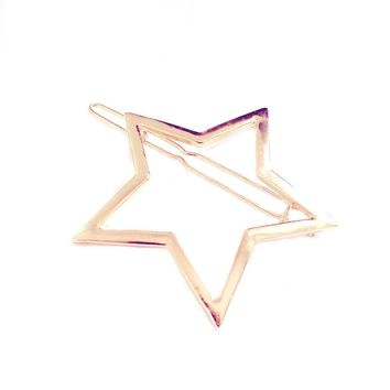 Women Hollow Five-pointed Star Hairpin Hair Clip Pins