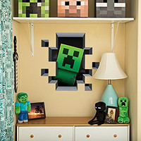 Minecraft Creeper Inside Wall Decal Plus Pig and Cow (Set of 3)