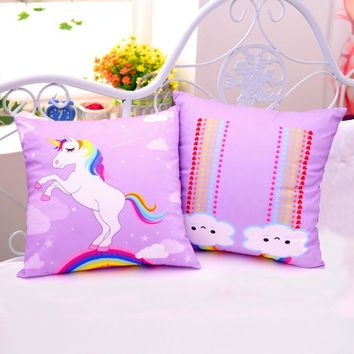 OurWarm Decorative Unicorn Party Pillow Case 45*45 Soft Polyester Unicorn Decoration Accessories Birthday Party Decorations Kids