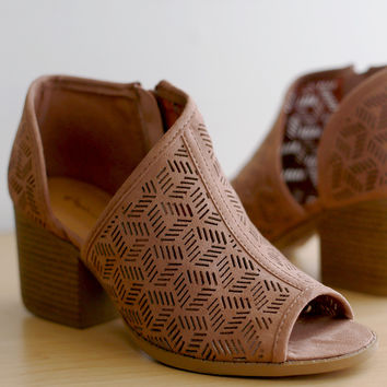 Perforated Open Shank Booties | UrbanOG