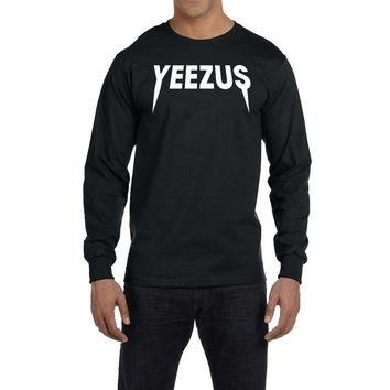 Yeezus Long Sleeve T Shirt Kanye West Hip Hop Classic Yeezy New Adult Tee Shirt Chicag