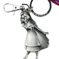 Disney Alice in Wonderland Pewter Keyring