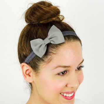 Grey Baby Headband Hair Accessories Grey Women Headband Girls Headbands Cheer Headband Bridesmaids Gifts Cute Bridal Party Gifts under 10