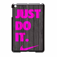 Nike Just Do It Wood Colored Darkwood Wooden Pink iPad Mini 2 Case