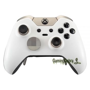 Soft Touch Solid White Custom Top Housing Shell for Xbox One Elite Controller
