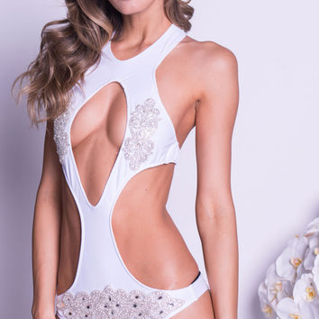 COSTA MONOKINI WITH CRYSTALS