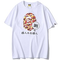 Bape Women Men Fashion Casual  Short Sleeve