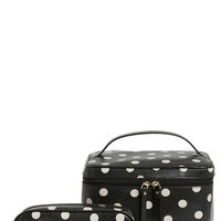 kate spade new york 'cedar street - large natalie' cosmetics case - Black/ Deco Beige