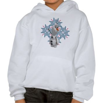 Olaf - Blue Snowflake Hooded Sweatshirt