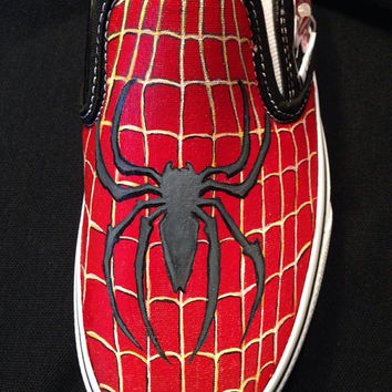Custom Hand Painted Shoes - Spider-Man