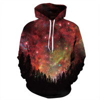 Red Space Forest Hoodie