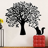 Tree Wall Decals Cat Kitten Animal Decal Vinyl Sticker Baby Children Nursery Bedroom Room Home Decor Art Murals C505