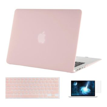 Mosiso Replace Shell Cover for Macbook Air 13 13.3  2015 2016 2014 + Silicone Keyboard Skin Cover + Screen film Protector