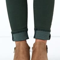 Kick Back Taupe Ankle Boots