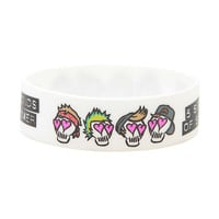 Five Seconds Of Summer Skulls Rubber Bracelet