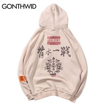 GONTHWID Graffiti Hoodies Streetwear 2018 Mens Hip Hop Casual Cotton Hooded Sweatshirts Autumn Male Harajuku Hipster Swag Hoodie
