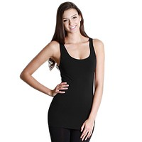Nylon Seamless Long Tank Top