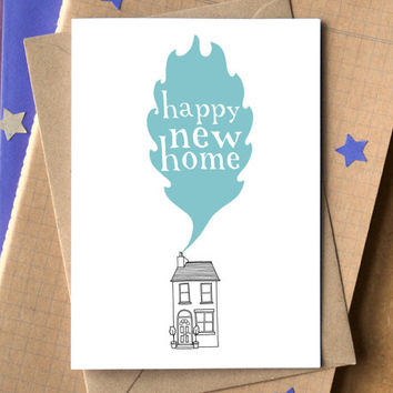 New Home Card - happy new home card - new house card - housewarming card