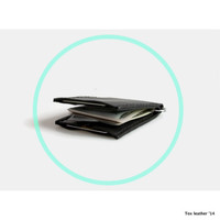 Personalized money clip mini wallet / leather minimal wallet