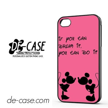 Disney Mickey And Minnie Mouse Quotes DEAL-3358 Apple Phonecase Cover For Iphone 4 / Iphone 4S