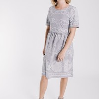 The Perla Lace Dress in Grey