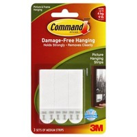 3M Command™ 4-Pack Medium Picture Hanging Strips