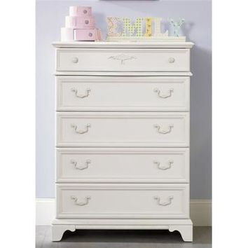 Liberty Furniture Arielle 5 Drawer Chest in Antique White Finish