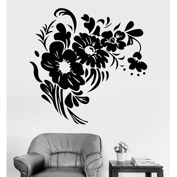 Vinyl Wall Decal Flowers Bouquet Floral Nature Room Decor Stickers Unique Gift (1130ig)