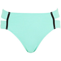 River Island Womens Light green textured bikini bottoms