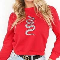GUCCI Fashion Print Long Sleeve Top Sweater Pullover