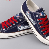 New England Patriots fan design  NFL canvas sneakers