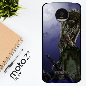 Great Grey Wolf Sif Puppy Z0311 Motorola Moto Z2 Play Case