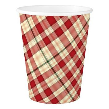 Christmas Plaid 20-PAPER CUPS