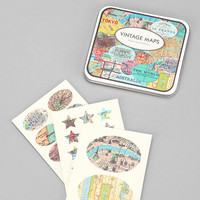 Urban Outfitters - Vintage-Style Sticker Set