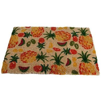 Pineapple Welcome Coir Door Mat