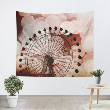 Crimson Ferris Wheel Tapestry