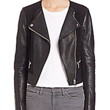 Joie - Iridessa Leather & Ponte Moto Jacket - Saks Fifth Avenue Mobile