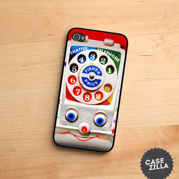 iPhone 5 Case Vintage Fisher Price Kids Toy Phone iPhone 5S Case, iPhone 4/4S Case, iPhone 5C Case