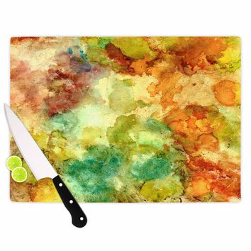 "Rosie Brown ""Fall Bouqet"" Yellow Orange Cutting Board - Outlet Item"
