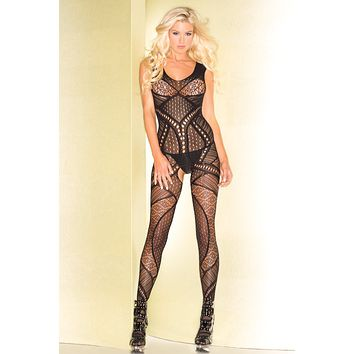 Geometric Pattern Bodystocking