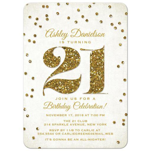 21st birthday party invitations gold from lemon leaf prints filmwisefo