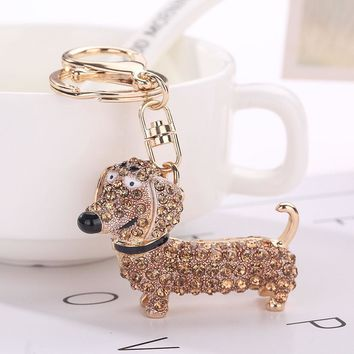 Crystal Dachshund Key-chain
