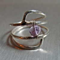 February // Genuine Amethyst Ring // Sterling Silver Birthstone Ring // Natural Gemstone Ring // Amethyst Birthstone