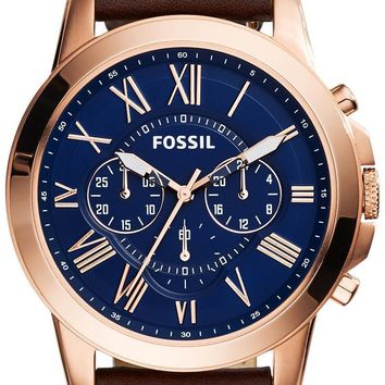 Fossil Grant Chronograph Rose Gold-Tone FS5068 Men's Watch