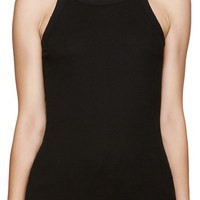 Black Ribbed Tank Top