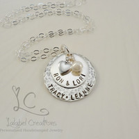 Personalized Necklace for Mom, Sterling Silver Mother's Necklace, Personalized Gifts for Mom, Mother's Day Gift