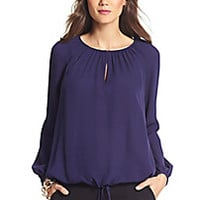 DVF Mathilde Silk Peasant Blouse